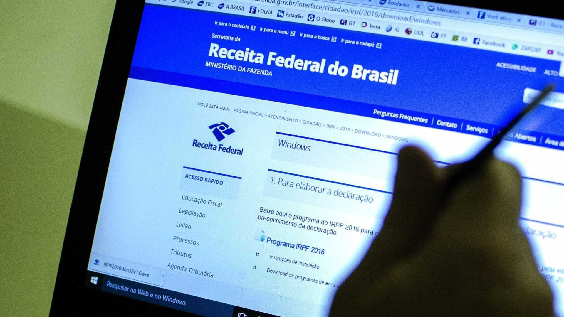 Receita Federal alerta para e-mail falso sobre malha do Imposto de Renda